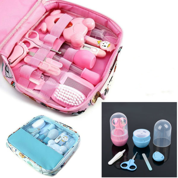 13Pcs Portable Baby Nail Clipper Comb Brush Set Infant Health Care Kit Infant Grooming Care Nail Clippers Comb Hair Brush Kit