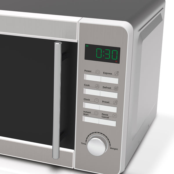 Microwave Oven MW700S IKOHS 5 functions 6 automatique menus Silver 34x45x25 20L