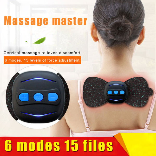 Hot sale Portable Mini Electric  Back Neck Shoulder Body Massager Cervical Massage Stimulator Pain Relief Charging Massager