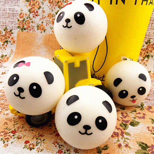 1pcs Hot Sale Cute Artificial Jumbo Panda Bread Cell Key Strap Pendant  Home Party Little Gifts Decoration Random Style