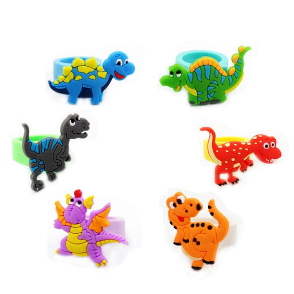 5 Pcs/set NEW Hot sale Cartoon Animal Dinosaur Ring Party Favor Rings New year Birthday Party Decor Party Favors