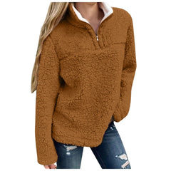 Women Warm Winter Solid Casual Zip Up Plus Size Feminino Women Sweatshirt Pullovers Outwear Tops Hoodies Women Roupas Feminina