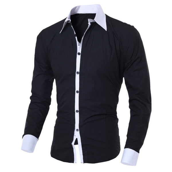 2019 New Arrivals Slim Fit Male Shirt Fashion Men's Business Patchwork Button Casual Short Sleeve Top Blouse comfortable