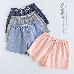 Cotton Pajama Pants Women Shorts Pajamas Summer Pants Japanese Casual Women's Home Lingerie