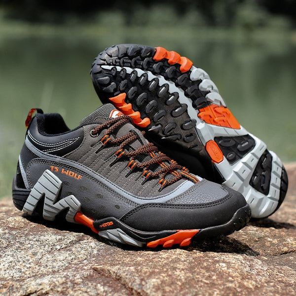 Couple Outdoor Hiking Shoes Men Waterproof Breathable Hunting Trekking Shoes Brand Genuine Leather Sport Climbing Sneakers
