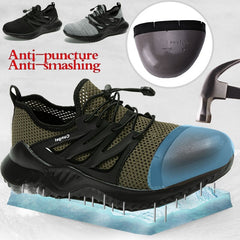 CUNGEL safety Shoes Men And Women Steel Toe wark shoes Air Safety Boots Puncture-Proof Work Sneakers Breathable Shoes