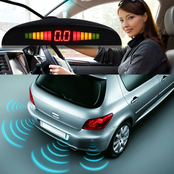 Radar Monitor System 1Set Car LED Parking Sensor Assistance Reverse Backup Radar Monitor System Backlight Display+4 Sensors