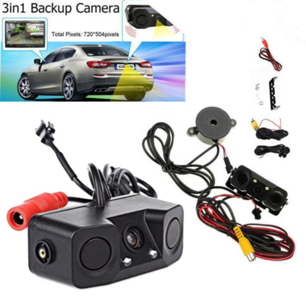 Car Visual Reversing Rear View Camera High Definition Rearview Mirror Vehicle Camera With Backup Radar Parking Sensor