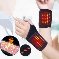 Wrist Support 1 Pair Magnetic Therapy Tourmaline Self-heating Wristband Sports Wrist Brace Belt Support Protector Sports Safety