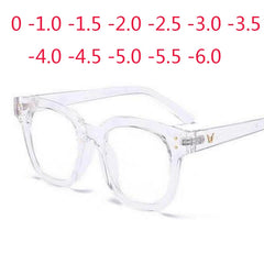 Retro Big Frame Oversized Finished Myopia Eyeglasses Women Men Eye Glasses Short-sighted Spectacle 0 -1.0 -1.5 -2.0 -2.5 To -6.0