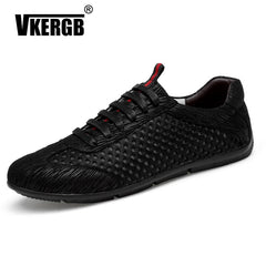 VKERGB Brand New Fashion Breathable Comfortable Casual Shoes Spring  Autumn Classic New Men'S Shoes Beathable Mesh Male Loafers
