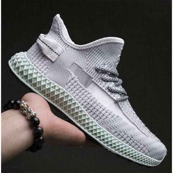 Men's Sneakers Summer Hollow Mesh Bottom Surface Trend Flying Woven Breathable Running Shoes Tide Wild Casual Shoes Kanye West
