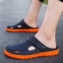New Arrival Men's Clogs Summer Shoes Men Slippers Breathable Non-slip Mules Male Garden Shoes Casual Beach Sandals ty678