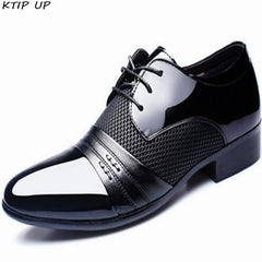 New Dress Casual Men's Shoes Business Flat Black Brown Breathable Summer Autumn Dress Shoes Size 38-48