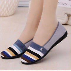INS hot women pumps 22.5-25 cm length Rainbow color Flat shoes, mother shoes, one pedal, lazy shoes women's shoes  fashion