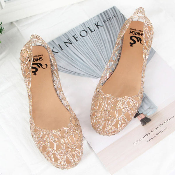 Women's Shoes Summer Beach Jelly Sandals Slip On Flats Hollow Casual Breathable Pumps buty damskie sandales femme 2019