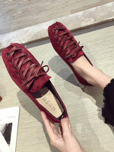 Women's shoes pumps 2019 new autumn shallow mouth fashion lace flat shoes