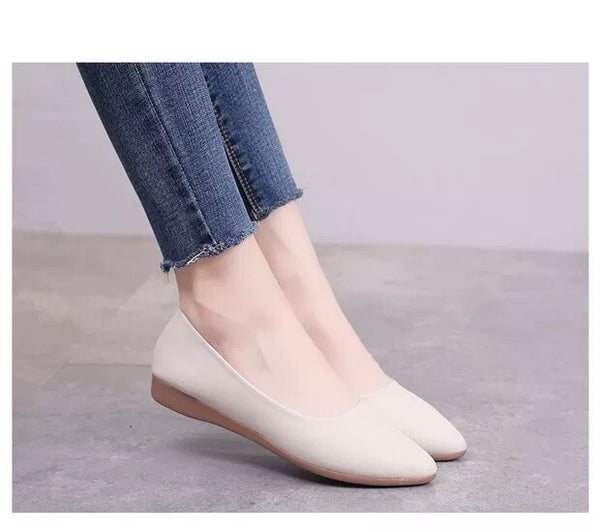 Women's Flat Shoes Spring Autumn Fashion Pointed Mom Single Shoes Women Flat Pumps