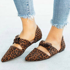 2019 hot sale Design Shoes de verano para mujer Summer Flat Casual Shoes Leopard Bow Pointed Toe Women's Shoes shoes woman