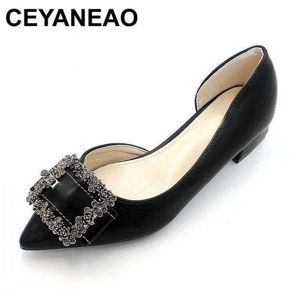 CEYANEAO  2019 New summer shoes, women's pumps, fashionable women's thin shoes with rhinestones, women's shoes with high heels
