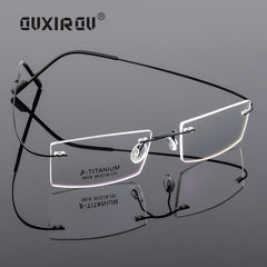 Fashion Memory Titanium Rimless Eyeglasses Women Men Lightweight Flexible Optical Glasses Frame Oculos De Grau Glasses s134