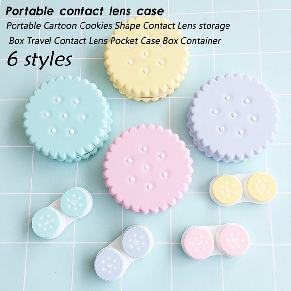 Easy Carry 1PCS Oreo contact lens box Travel Glasses Contact Lenses Box Contact lens Case for Eyes Care Kit Holder Container Gif