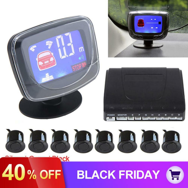 Weatherproof Car Auto Parktronic LCD Parking Sensor System 4 / 6 / 8 Sensors Reverse Backup Car Parking Radar Monitor Detector