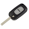 OkeyTech 2/3 Buttons Car Remote Key Case shell For Renault Clio Megane Kangoo Modu with Flip Fob Replacement Folding Uncut Blade