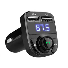 New Bluetooth Version 4.0 HandsFree Car Kit Wireless Bluetooth FM Transmitter MP3 Player LED Screen 12V-24V Car Dual USB Charger