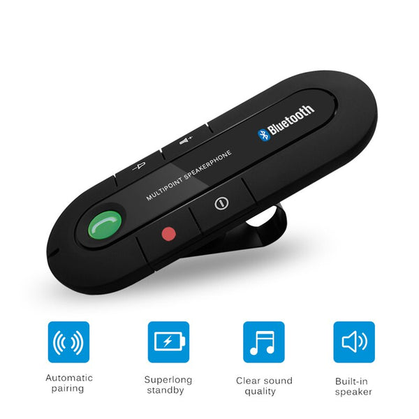 Car Stereo Handsfree Bluetooth Car Kit Wireless Vehicle Bluetooth Receiver Bluetooth for Car for Mobile Phone Car Electronics