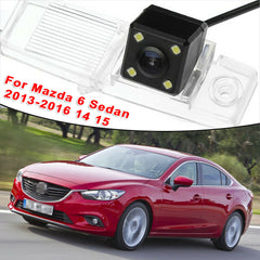 4 LED Car Rear View Camera Reverse Backup CCD For Mazda 6 Sedan 2013-2016 Car accessories Rearview Camera NTSC PAL video system