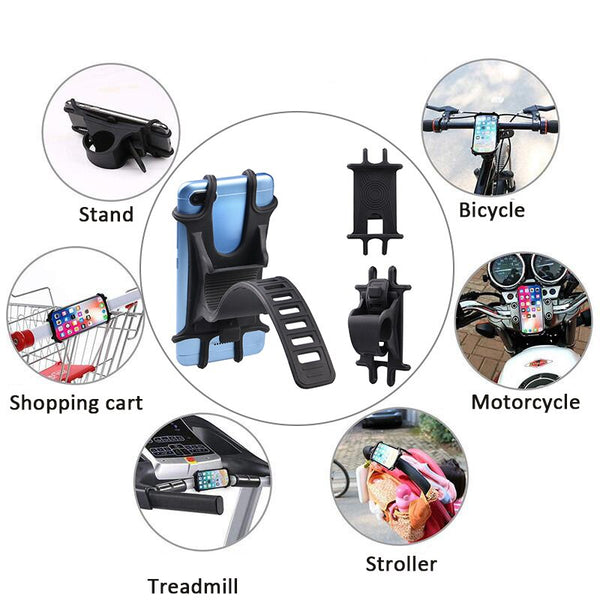 Bicycle Phone Holder For iPhone Samsung Universal Motorcycle Mobile Phone Holder GPS Mount Support Bracket Cycling Accessories