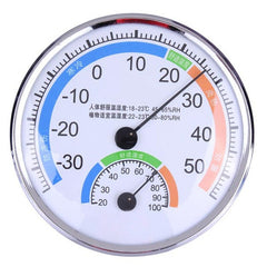 Steel Sainless Thermometer And Hygrometer For Indoor Outdoor Weather Meter