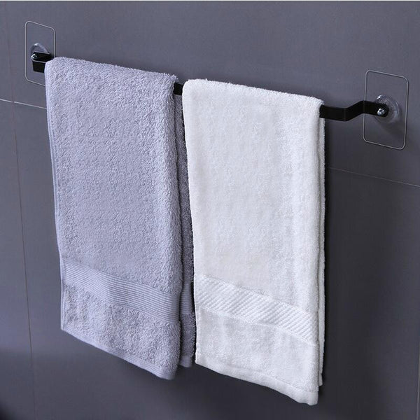 Self Adhesive Wall Mounted Bathroom Towel Bar Shelf Rack Holder Toilet Roll Paper Hanging Hanger 50.5*3.5*1.5cm