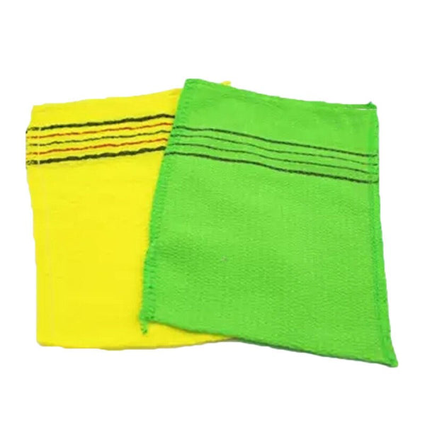 2PCS Korean Italy Asian Exfoliating Bath Washcloth Body Scrub Shower Towel Tool Home Cleaning Washing Scrub Shower Towels