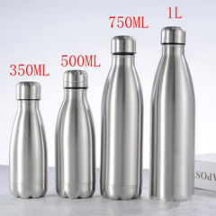 350ML/750ML Stainless Cola Motion Sports Water Bottle Rugged Water Cup Monolayer Metal Color Cola Drink Bottle Drinkware