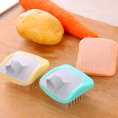Tools Dirt Remove Scrubber Helper Potato Fruits Vegetables Cleaning Brush Portable Random Color Home Kitchen Gadgets Durable