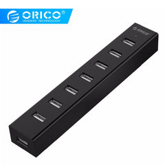 Clearance Sale USB HUB 7 Ports Splitter 2.0 Hub  for MAC Notebook Perfectly with 100CM/30CM Data Cable