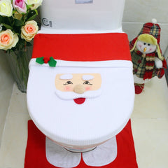 Christmas Decorations for Home Cover Christmas Toilet Seat Snowman Toilet Lid Cover Xmas Natal Navidad Decoration Hot Sale