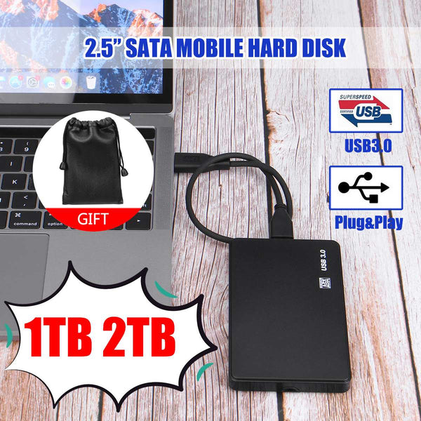 2.5 Mobile Hard Disk USB3.0 SATA3.0 1TB 2TB HDD disco duro externo  External Hard Drives for Laptop/Maco/PS4/Xb