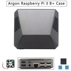 Argon Raspberry Pi 3 Model B+ Argon Aluminum Case Removable Magnetic GPIO Cover Metal Shell+Cooling Fan Heat Sink for RPI 3B+/3B
