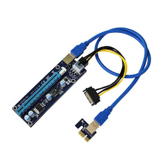 Mini PCI-E to PCI Express 1x to 16x Extender Riser video external graphics Card Adapter 6Pin Power Cable for Bitcoin BTC Mining