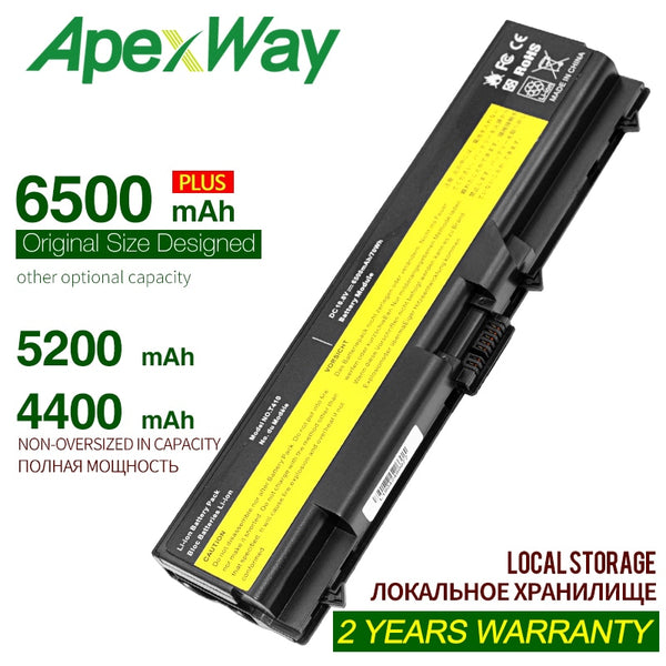 ApexWay 6 cells laptop battery for Lenovo ThinkPad L510 L512 L520 L530 SL410 SL510 T510 T510i T410 T410i T420 T420i T430 T430i