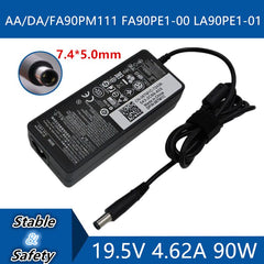19.5V 4.62A 7.4*5.0mm Universal Laptop Adapter Charger For DELL AA/DA/FA90PM111 FA90PE1-00 LA90PE1-01 DC Jack Charger adapter