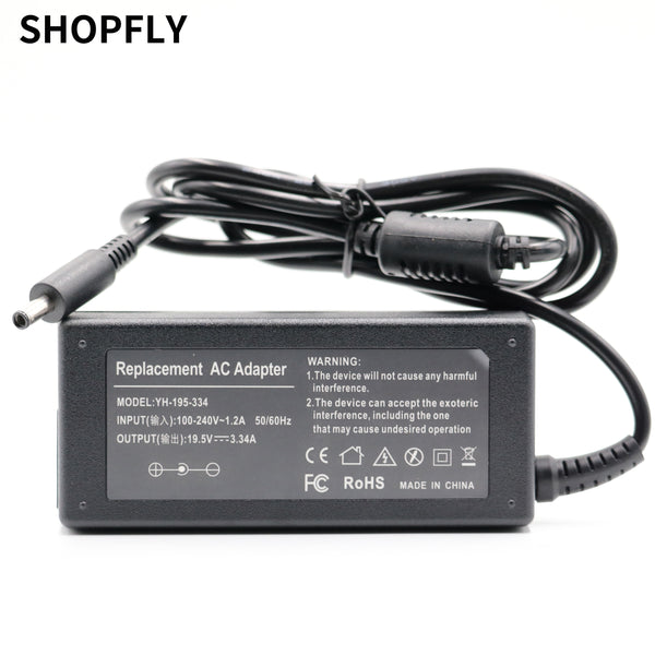 19.5V 3.34A 65W laptop AC power adapter charger for Dell Inspiron 15 3551 3552 3558 5551 5552 5555 5558 5559 7568 P28E P57G