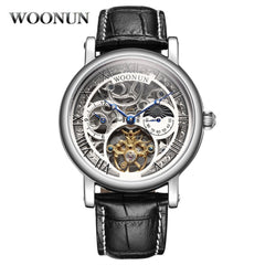 Luxury Men Watches Men Skeleton Watches Automatic Mechanical Watch Men Luxury Tourbillon Watches Men Moon Phase montre homme