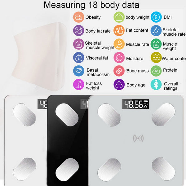Smart Body Fat Scale LCD Digital Wireless Bluetooth Reciver BMI Weight Monitor Health Analyzer Fitness Lose Weight Tools Scale