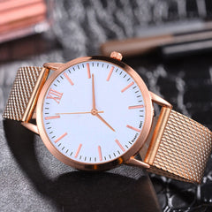 New Fashion Gold Rose Gold And Silver Mesh Belt Watches Women Ladies Casual Dress Quartz Wristwatch Clock Gift reloj mujer #B