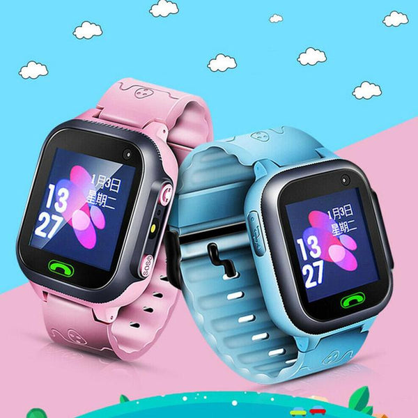 Anti Lost Children's Phone Watch Child Gps Tracker Sos Smart Monitoring Positioning Phone Kids Baby Watch Compatible Ios Android