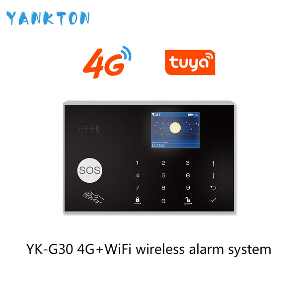 Tuya 433MHz 3G&4G WiFi Wireless Home Security&Burglar Alarm System With PIR Motion Sensor/Door Sensor/Siren Support Android&iOS